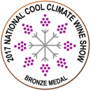 2016 Waterton Hall Wines Shiraz awards - Cool Climate bronze