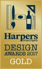 Harpers Wine & Spirit Design Award 2017 - gold
