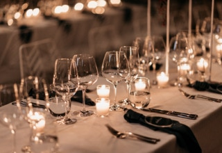Waterton Hall Wines - wedding table... Photographer Fiona Vail